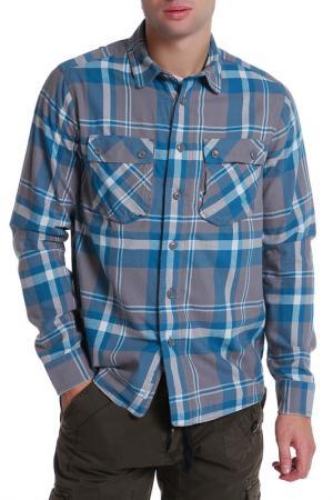 Рубашка Bench. Цвет: серый