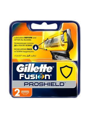 Сменные кассеты Gillette Fusion ProShield (2 шт.). Цвет: желтый, синий