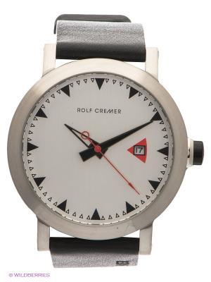 Часы Mech-Automatik Lederband 60 Silver Rolf Cremer. Цвет: черный