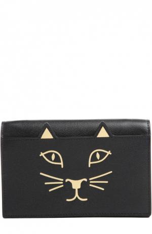 Сумка Feline с принтом Charlotte Olympia. Цвет: черный