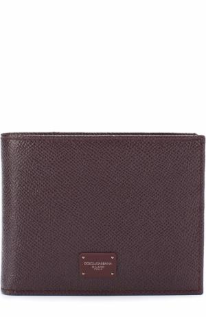 Кожаное портмоне с отделениями для кредитных карт и монет Dolce & Gabbana. Цвет: бордовый