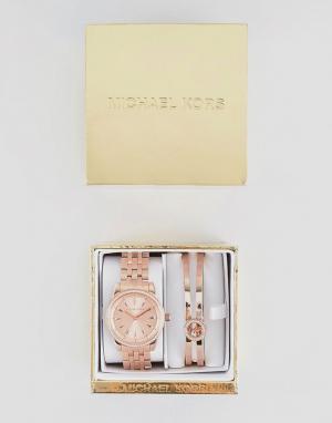 Michael Kors Подарочный набор с браслетом и часами цвета розового золота Ko. Цвет: золотой