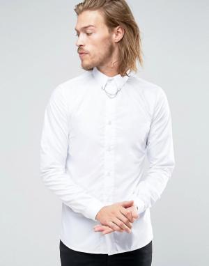 Rogues of London Облегающая рубашка. Цвет: белый