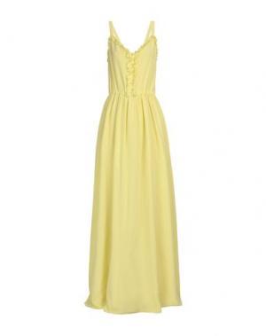 Длинное платье ALEXANDER TEREKHOV. Цвет: желтый