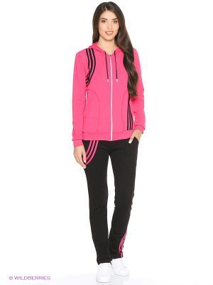 Костюм спортивный женский (джемпер, брюки) MARSOFINA. Цвет: малиновый, черный