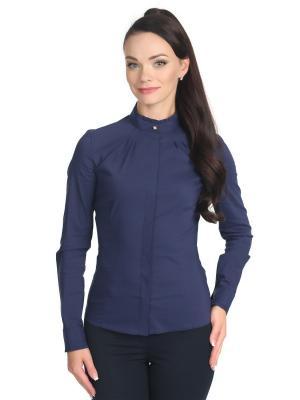 Блузка BLAUZ. Цвет: темно-синий