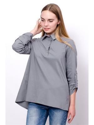 Блузка Mirella Sole. Цвет: серый