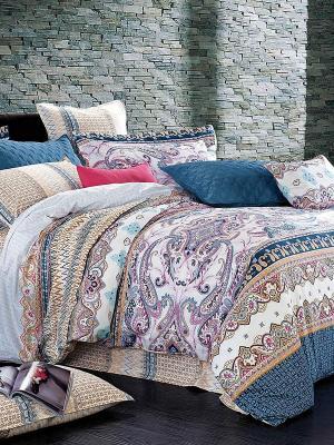 Комплект постельного белья Primavelle. Цвет: белый, синий, бежевый, розовый