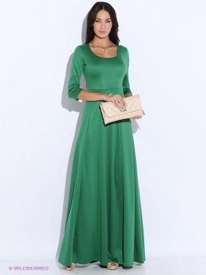 Платье Colambetta. Цвет: темно-зеленый