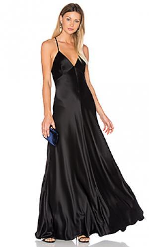 Атласное платье-комбинация JILL STUART. Цвет: черный