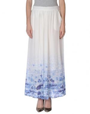 Длинная юбка PUROTATTO. Цвет: белый