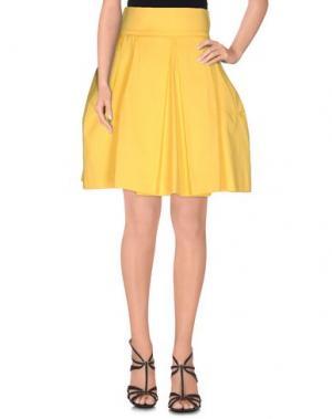 Юбка до колена NORA BARTH. Цвет: желтый
