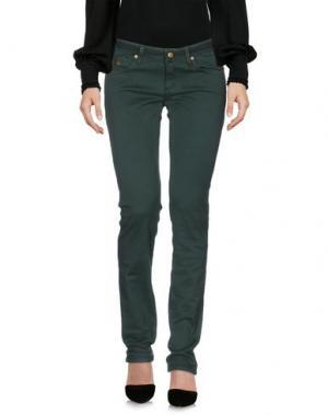 Повседневные брюки DUCK FARM. Цвет: темно-зеленый