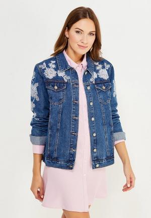 Куртка джинсовая Glamorous. Цвет: синий