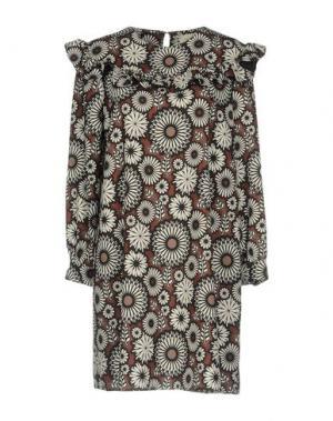 Короткое платье VICOLO. Цвет: коричневый