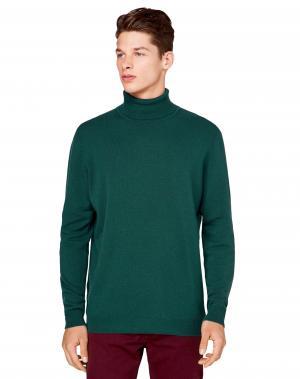 Водолазка Benetton. Цвет: зеленый