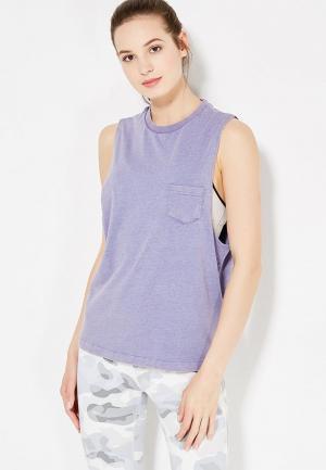 Майка спортивная Reebok. Цвет: фиолетовый