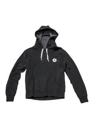 Худи Knitted womens LS hoodie Converse. Цвет: черный