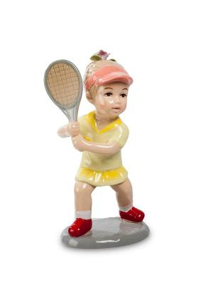 Статуэтка Девочка Игра В Теннис Pavone. Цвет: бежевый, красный, светло-желтый