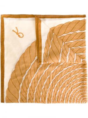 Платок с принтом веревки Roberta  Di Camerino Vintage. Цвет: телесный