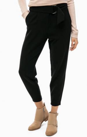 Зауженные черные брюки b.young. Цвет: черный