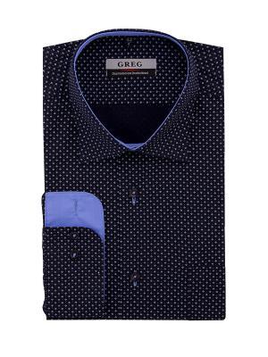 Рубашка GREG. Цвет: белый, синий, голубой