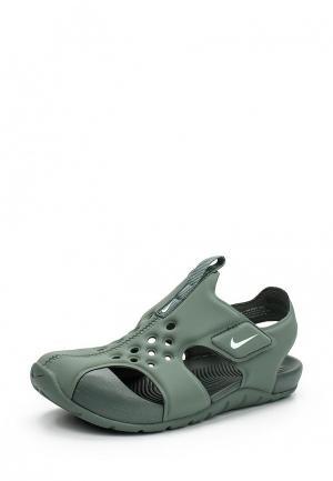 Сандалии Nike. Цвет: зеленый