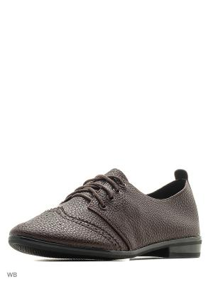 Туфли HUADA. Цвет: коричневый