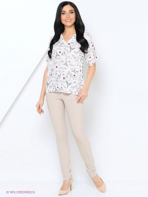 Блузка Samirini. Цвет: белый, черный