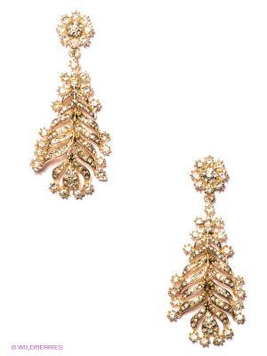 Серьги Milana Style. Цвет: золотистый