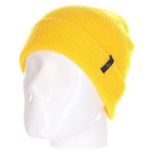 Шапка  Clan Floro Beanie Yellow Celtek. Цвет: желтый