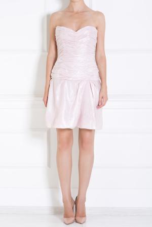 Льняное платье Luisa Beccaria. Цвет: розовый, перламутровый