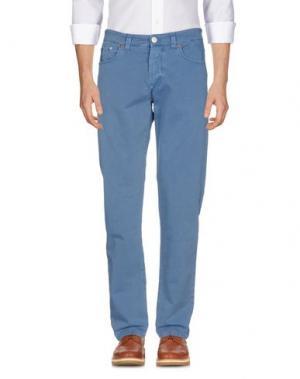 Повседневные брюки BARBA Napoli. Цвет: грифельно-синий