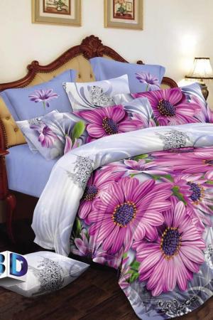 Постельное бельё ЕВРО 70x70 BegAl. Цвет: голубой, фиолетовый, зеленый
