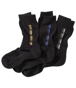 Комплект Носков — 3 пары AFM. Цвет: разноцветньіи