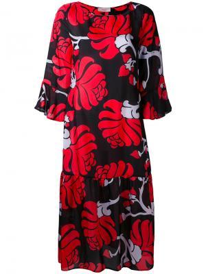 Платье-шифт с цветочным рисунком Jucca. Цвет: многоцветный