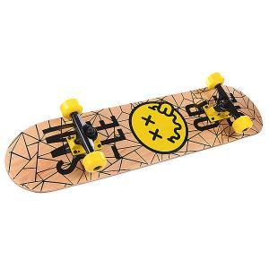 Скейтборд в сборе детский  Smiley Face White/Black 7.5 (19.1 См) Fun4U. Цвет: белый,черный