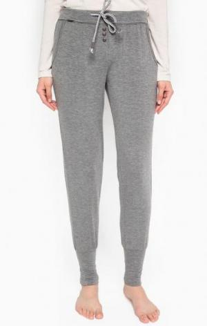 Серые зауженные брюки Jockey. Цвет: серый