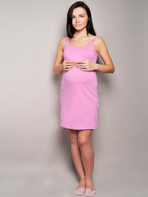 Сорочка Hunny Mammy. Цвет: розовый