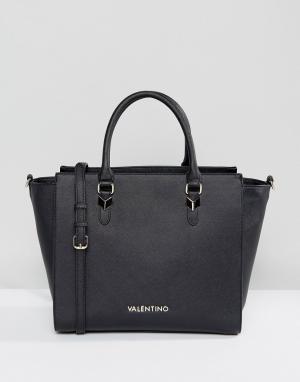 Valentino by Mario Черная сумка-тоут. Цвет: черный