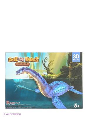 Пазл Плезиозавр CubicFun. Цвет: голубой