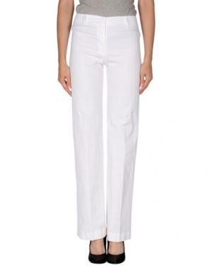 Повседневные брюки IRMA BIGNAMI. Цвет: белый