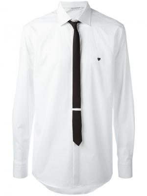 Рубашка с галстуком Neil Barrett. Цвет: белый
