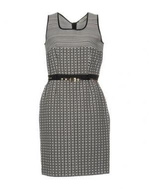Короткое платье ANGELO MARANI. Цвет: черный