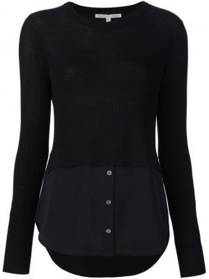 Многослойный свитер Veronica Beard. Цвет: чёрный