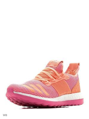 Кроссовки дет. спорт. PureBOOST ZG j SHOPIN/FTWWHT/SUNGLO Adidas. Цвет: розовый