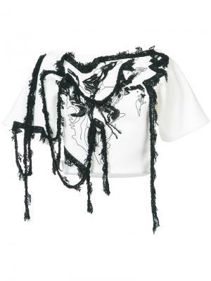 Блузка с вышивкой Maticevski. Цвет: белый