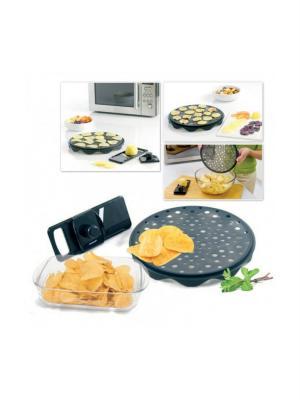 Набор для приготовления чипсов в микроволновой печи BRADEX. Цвет: черный