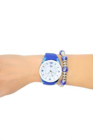 Набор: часы, браслет Taya. Цвет: белый, темно-синий