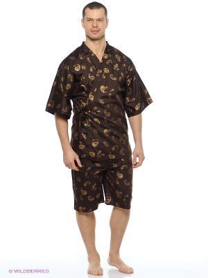 Пижама Maori. Цвет: золотистый, коричневый
